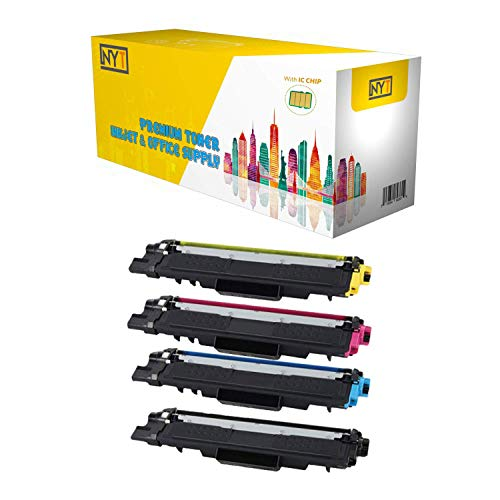 NYT Compatible with Chip Toner Cartridge Replacement for Brother TN223 for HL-L3210CW, HL-L3230CDW, HL-L3270CDW, HL-L3290CDW, MFC-L3710CW (Black,Cyan,Magenta,Yellow,4-Pack)
