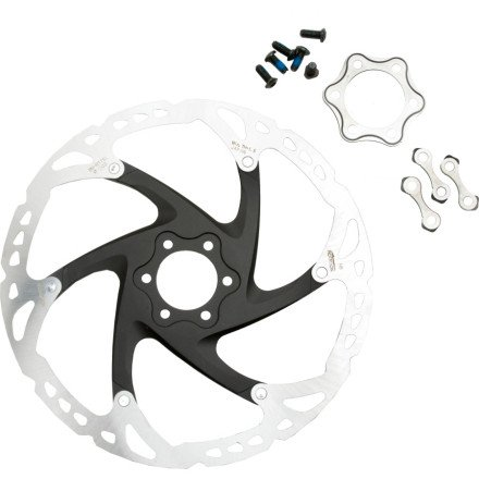 (SHIMANO SM-RT76 6-Bolt Disc Brake Rotor, 203mm)