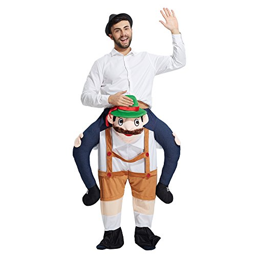 YEDASI Piggyback Ride On Riding Shoulder Adult Costume Easter Mascot Pants (Beer people),X-Large