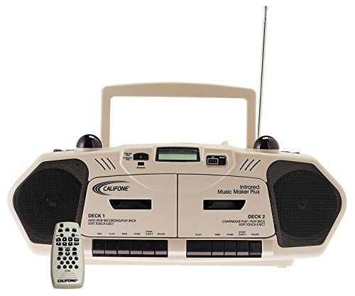 Califone 2395IR Wireless Infrared Music Maker with Dual-Cassette, CD Player and AM/FM ()
