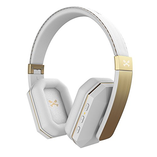 Ghostek soDrop 2 Wireless Bluetooth Headphones with Noise Reduction Amazing Bass | White & Gold