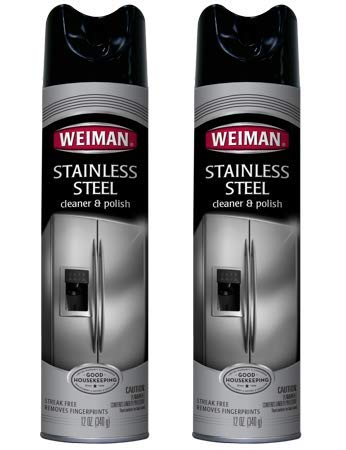 Weiman Stainless Steel Cleaner, 12 oz (Pack of 2)