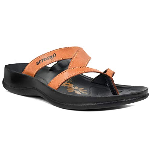 Aerosoft Arch Supportive Deke, Kumo, Tuck & Zeus Style Sandals (US 09, Kumo - Tan) (Flip Flips With Arch Support)
