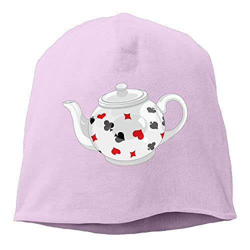 JOQSI Solid Color Poker Teapot Art Beanie Cap for Unisex Red One Size Fashion