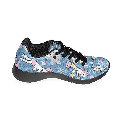 ... Interestprint Femmes Chaussures De Course Jogging Léger Sport Marche  Athlétisme Baskets Mignon Fleur ...