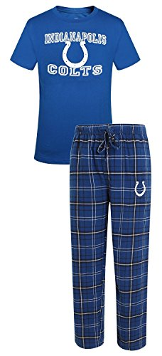 Concepts Sport Indianapolis Colts NFL Game Time Men's T-Shirt & Flannel Pajama Sleep Set