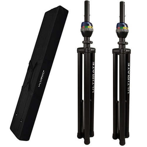 Ultimate Support TS-90B Speaker Stands-Pair w/ Bag-90D Canvas Carry Bag by Ultimate Support