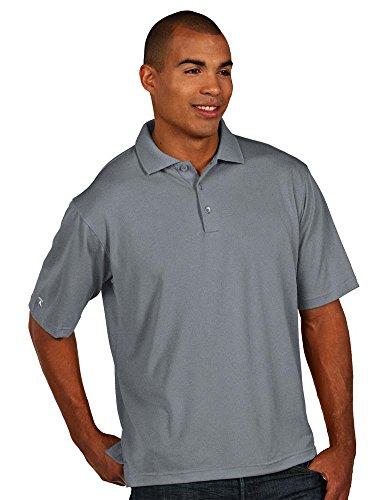 Antigua Men's Pique Xtra-Lite Desert Dry Polo Shirt, Grey/Heather, XX-Large from Antigua