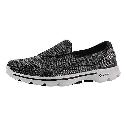 Skechers Women's GO Walk 3 Super Sock 3 Slip On Walking Shoe Black 7 M US