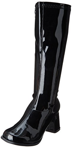 Ellie Shoes Women's Gogo Boot, Black, 7 M US