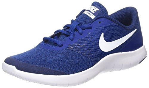 Nike Mädchen Flex Contact GS Hallenschuhe, Rot Blau (Gym Blue/white/binary Blue)