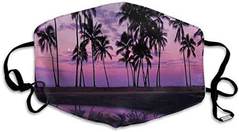 Liayai7. Anti Dust Mask Nature Palms at Sunset,Face Mask Winter Healthy Warm for Unisex Halloween Mouth Masks