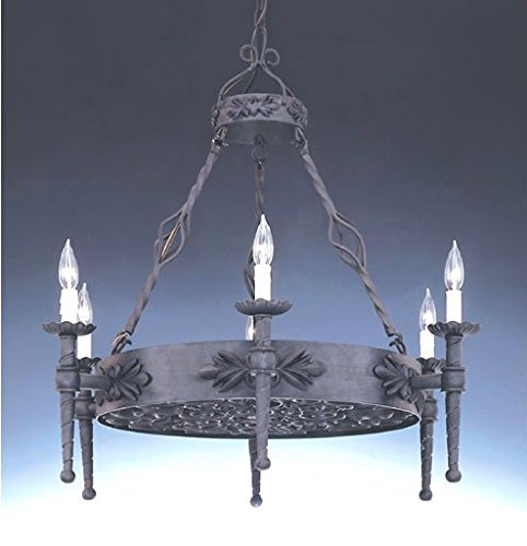 Designers Fountain 9186 Alhambra 6 Light Island in Natural Iron Finish