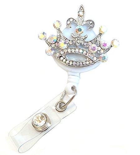 Crown Badge - Badge Blooms ID Badge Reel - Bling - Crystal Crown