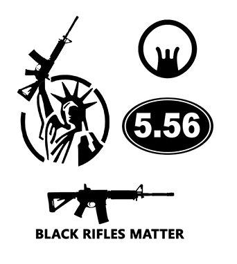 Ar 15 2Nd Amendment Sticker 4 Pack  0157   Black