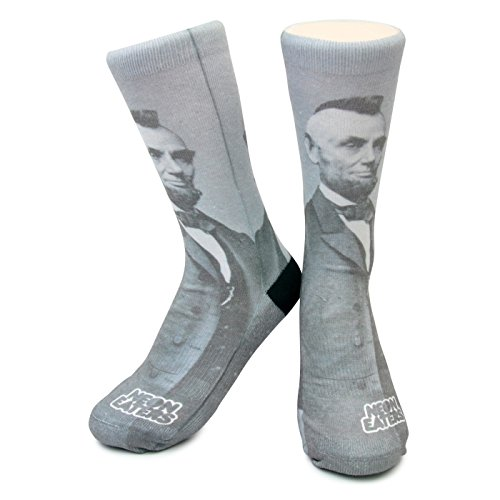 Punk Rock Abe Lincoln Crew Socks - Unique, Funky, Crazy, Fun, 100% comfort guarantee (MEDIUM (Youth ()