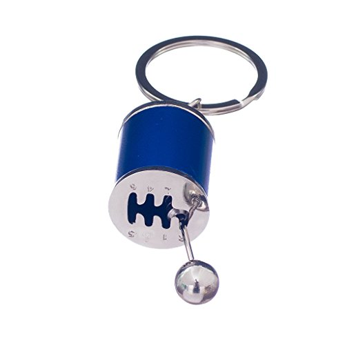 Cars Tuning Turbo (Jili Online Creative Portable Mini Metal Car Auto Tuning Part Gearshift Turbo Key Chain Turbine Keychain Keyring Blue)