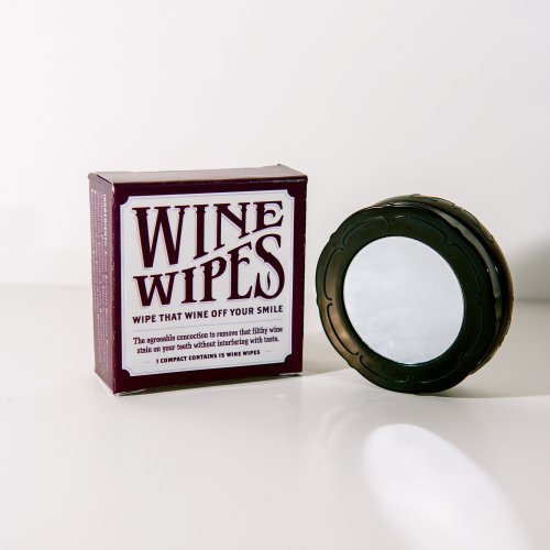 (Wine Wipes, Red Wine Stain Remover, 2 Compacts with 30 Wipes)