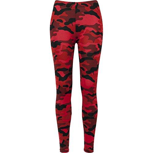 Ladies Camo Leggings red camo - Camo Red Urban
