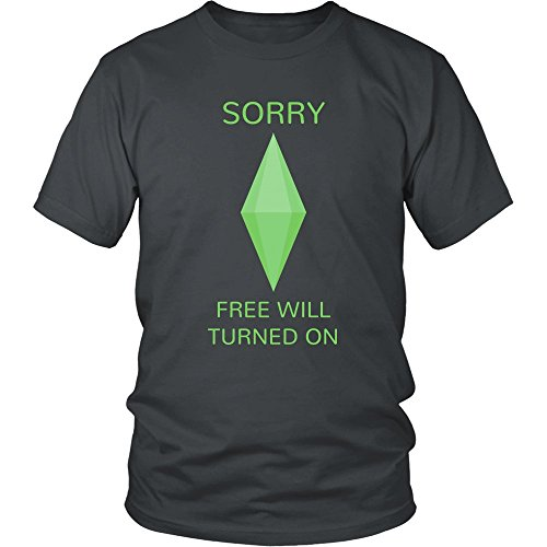 Nimbus Designs Sims Free Will Turned On - Adult Funny Graphic - Sims Apparel