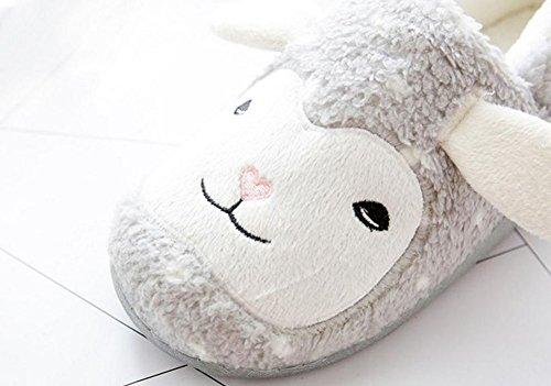 et Chaussons Mignon Peluche Petit Hiver 38 pour Cartoon Automne Femme Cosanter Mouton 39 Slippers wYEqEv0