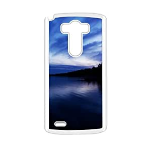 Personalized Clear Phone Case For LG G3,clouds blue sky and dark land