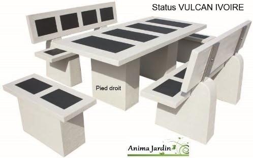 Salón de jardín en hormigón Ciré Status Vulcan marfil, framusa ...