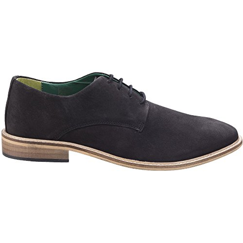 Lambretta Mens Scotts Derby Lace Up Durable Leather Oxford Smart Shoes Black