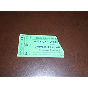 1932 MICHIGAN STATE AT MICHIGAN COLLEGE FOOTBALL TICKET STUB