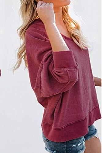 Back Vin Jumojufol Outwear Cross Open Casual Sweatshirt Ouvert Tops Jersey Femmes ArrvwqE