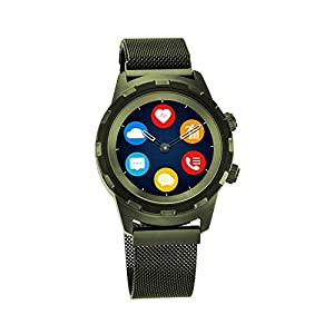 Titan Connected X Green Hybrid Smartwatch for Men with Heart Rate Monitor + Full touch Display + Interchangeable strap…