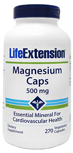 Life Extension Magnesium Caps 500mg, 270 Vegetarian Caps - 4 Mags in 1 Supplement: Oxide, Citrate, Succinate, Glycinate (Doctors Best High Absorption Magnesium)