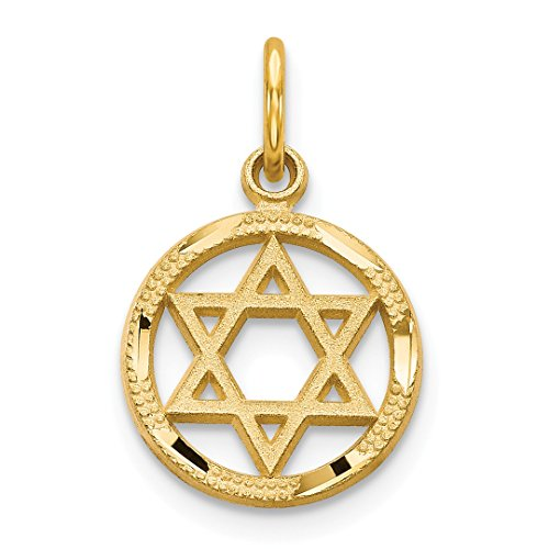 - 14k Yellow Gold Solid Jewish Jewelry Star Of David Pendant Charm Necklace Religious Judaica Fine Jewelry Gifts For Women For Her