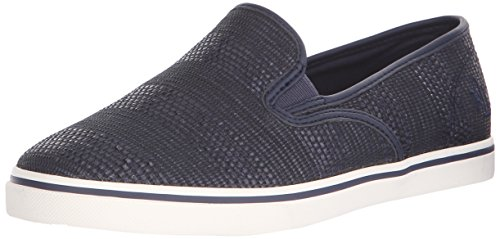 Lauren by Ralph Lauren Women's Janis Fashion Sneaker, Blue, B(M) US Navy