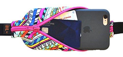 SPIbelt Large Pocket (Joule with Hot Pink Zipper, 25