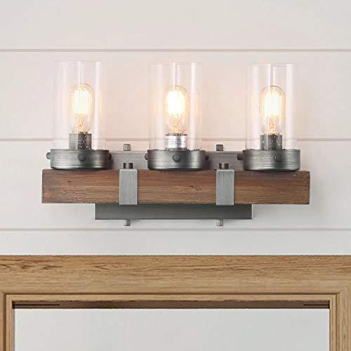 LOG BARN Bathroom Lighting Fixtures Over Mirror Wooden Farmhouse Vanity Sconce Rustic - Mirrors Bathroom Over Wood Lights