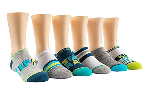 - Stride Rite Boys' Toddler 6-Pack No Show, everett epic hero blue, Sock: 6-7.5/Shoe: 7-10