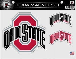 (Rico Industries NCAA Ohio State Buckeyes Die Cut Team Magnet Set)