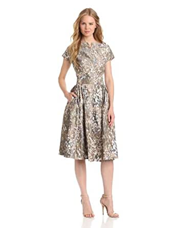 Vivienne Westwood Red Label Women's Vestito Printed Full Dress, Brown, 40