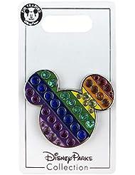 Disney Pin - Mickey Mouse Icon - Jeweled Rainbow