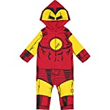 iron man baby - Marvel Avengers Iron Man Baby Boys' Zip-Up Hooded Costume Coverall (24 Months)