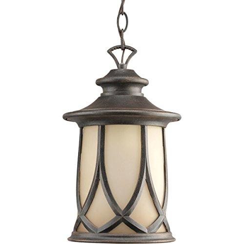 Progress Lighting P6504-122 Resort 1 Light Outdoor Hanging Lantern in Aged Copper P6504-122