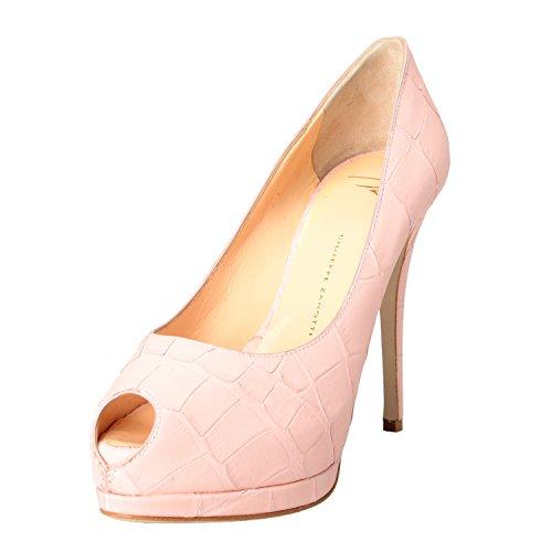 Giuseppe Zanotti Design Mujeres Pink Croc Print Zapatos De Tacones Altos Us 7.5 It 38.5