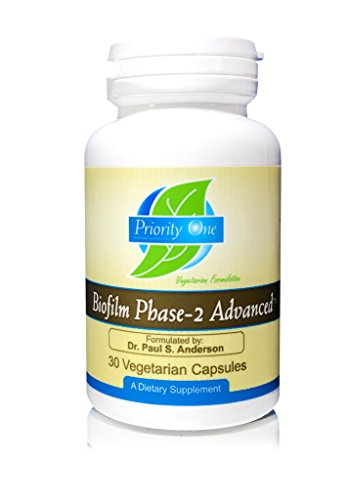 Priority One Vitamins Biofilm Phase-2 Advanced 30 Vegetarian Capsules Exclusively formulated by: Dr. Paul S. Anderson - Disruption of Advanced biofilms*