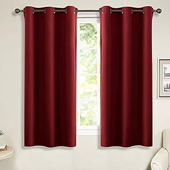 Amazon Com Nicetown Burgundy Blackout Curtains Grommet