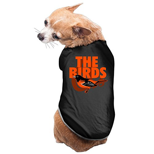 [Bro-Custom Baltimure Bird Orioles T-shirts For Dog Size S Black] (Oriole Bird Costume)
