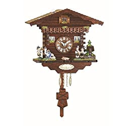 Kuckulino Black Forest Clock Swiss House with quartz movement and cuckoo chim...