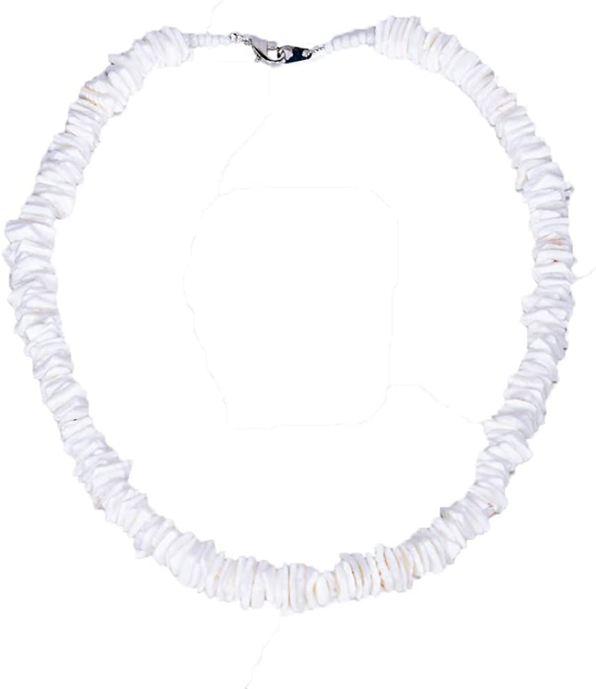 BlueRica Hawaiian Puka Chip Shells Necklace