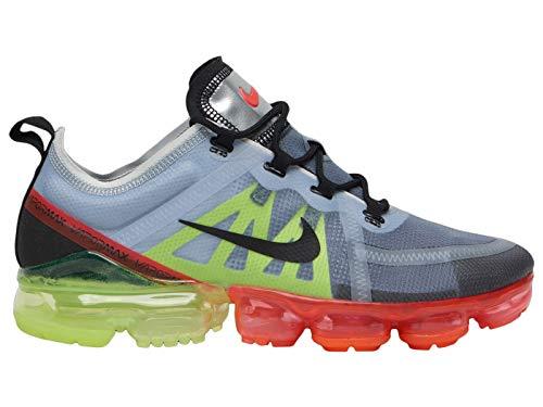 new arrivals 69400 aa68e Nike Men s Air Vapormax 2019 Pure Platinum Black Volt Nylon Running Shoes  12 M