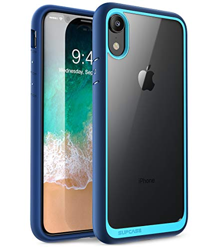 iPhone XR case, SUPCASE [Unicorn Beetle Style Series] Premium Hybrid Protective Clear Case for Apple iPhone XR 6.1 inch 2018 Release (Blue)